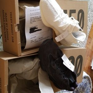 100% Authentic YEEZY WHT350 + Utility BLK500